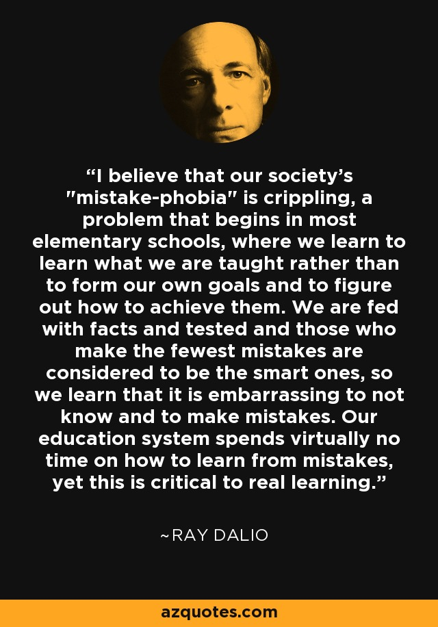 I believe that our society's