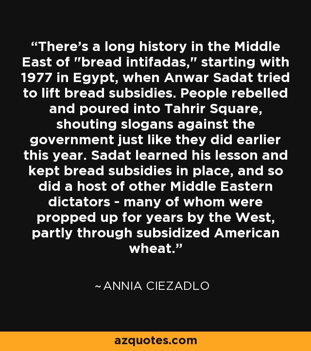 There's a long history in the Middle East of