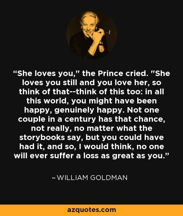 She loves you,