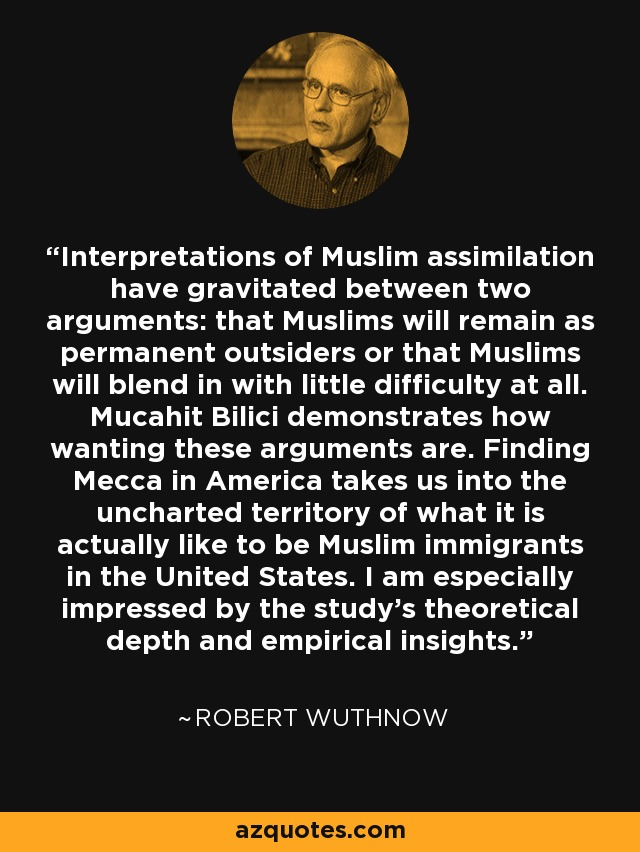 Interpretations of Muslim assimilation have gravitated between two arguments: that Muslims will remain as permanent outsiders or that Muslims will blend in with little difficulty at all. Mucahit Bilici demonstrates how wanting these arguments are. Finding Mecca in America takes us into the uncharted territory of what it is actually like to be Muslim immigrants in the United States. I am especially impressed by the study's theoretical depth and empirical insights. - Robert Wuthnow