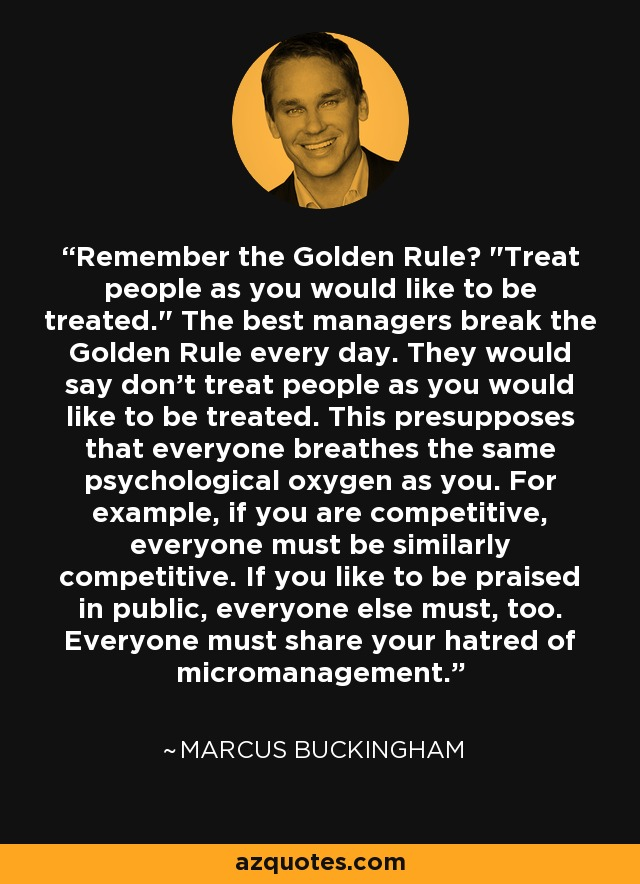 Remember the Golden Rule?