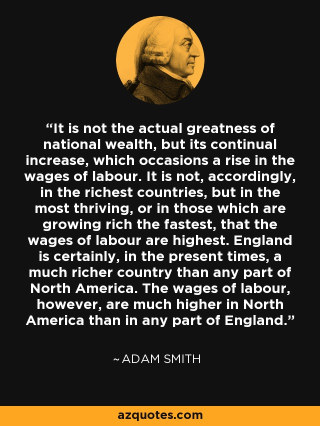adam smith of the wages of labour essay Adam smith and david ricardo's labor theory of value labor is bought and sold (for wages) essays related to adam smith and david ricardo: a comparative study.