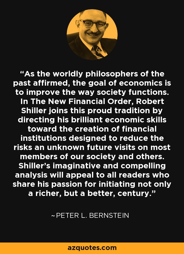 As the worldly philosophers of the past affirmed, the goal of economics is to improve the way society functions. In The New Financial Order, Robert Shiller joins this proud tradition by directing his brilliant economic skills toward the creation of financial institutions designed to reduce the risks an unknown future visits on most members of our society and others. Shiller's imaginative and compelling analysis will appeal to all readers who share his passion for initiating not only a richer, but a better, century. - Peter L. Bernstein