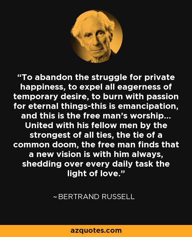bertrand russell free man s worship