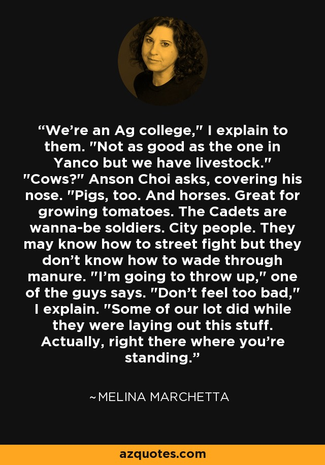 We're an Ag college,