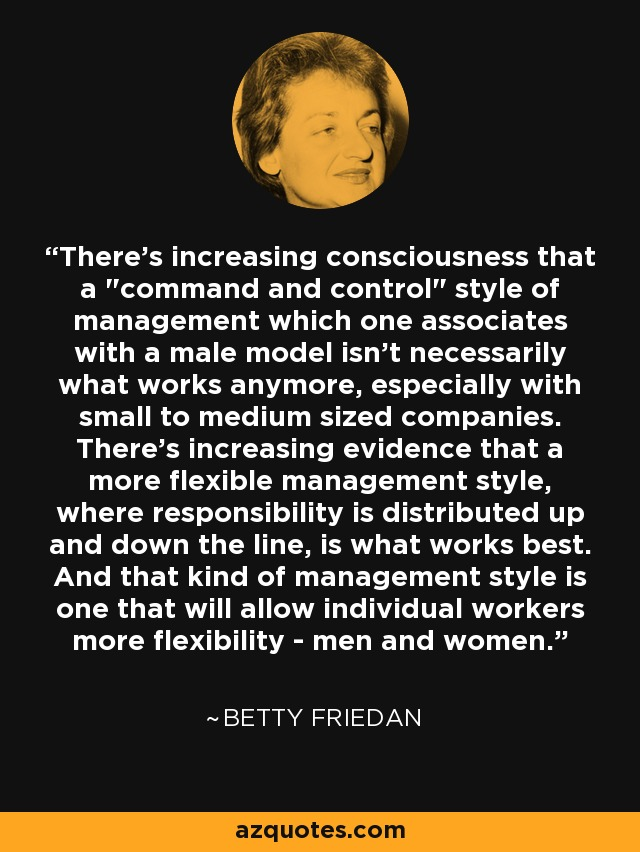 There's increasing consciousness that a