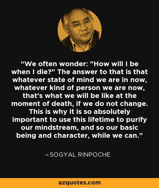 We often wonder: