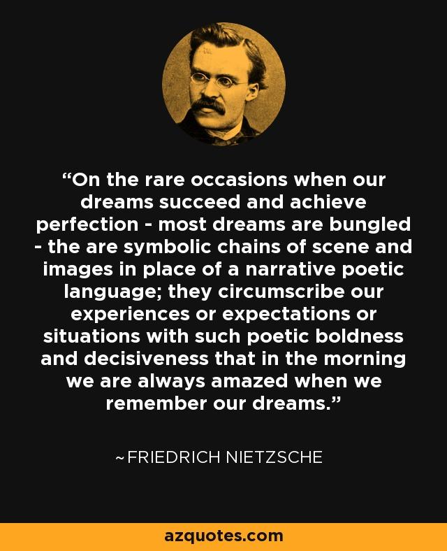 Friedrich Nietzsche Quote On The Rare Occasions When Our Dreams