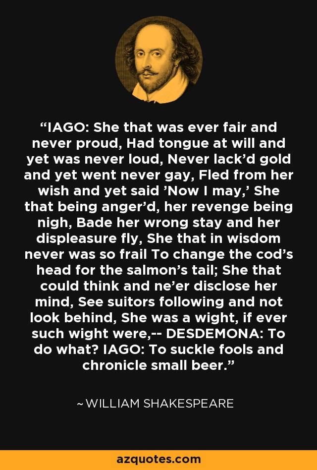to suckle fools and chronicle small beer iago pdf