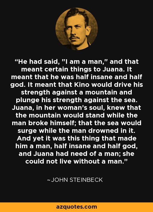 He had said,