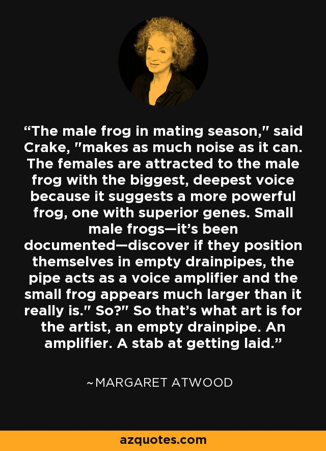 The male frog in mating season,