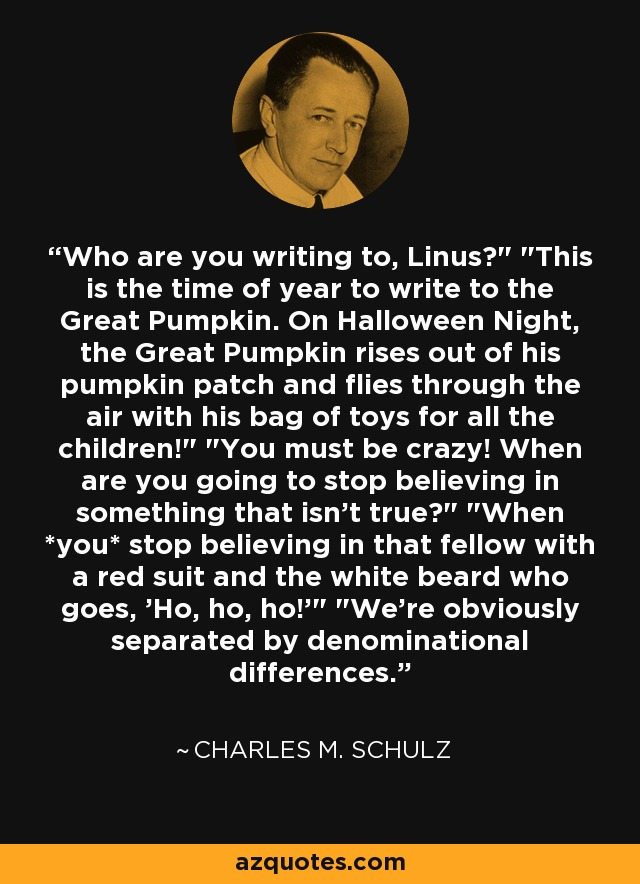 Who are you writing to, Linus?