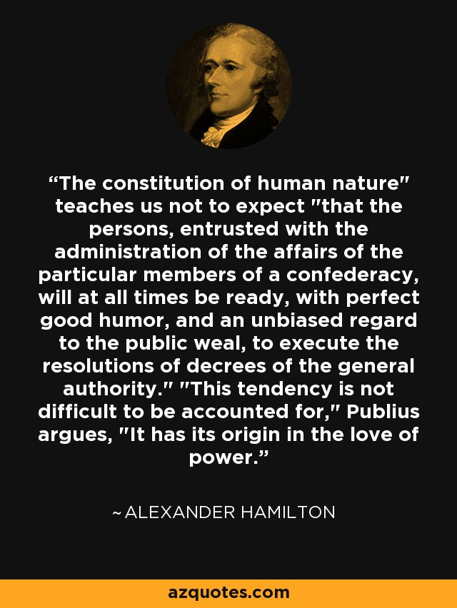 The constitution of human nature