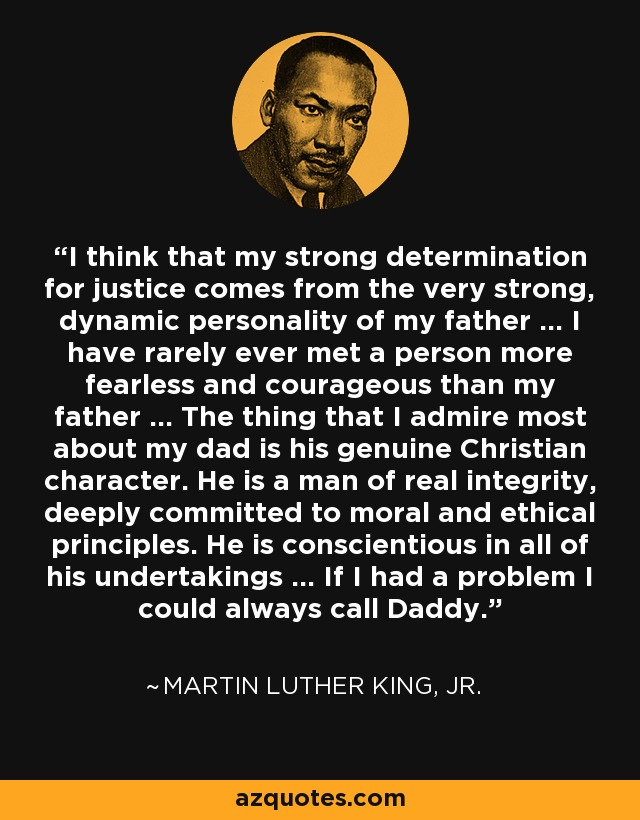 martin luther king personality