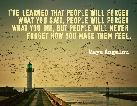 maya angelou picture quote ive learned that people will