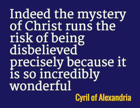 Cyril of Alexandria picture quote: Indeed the mystery of Christ runs