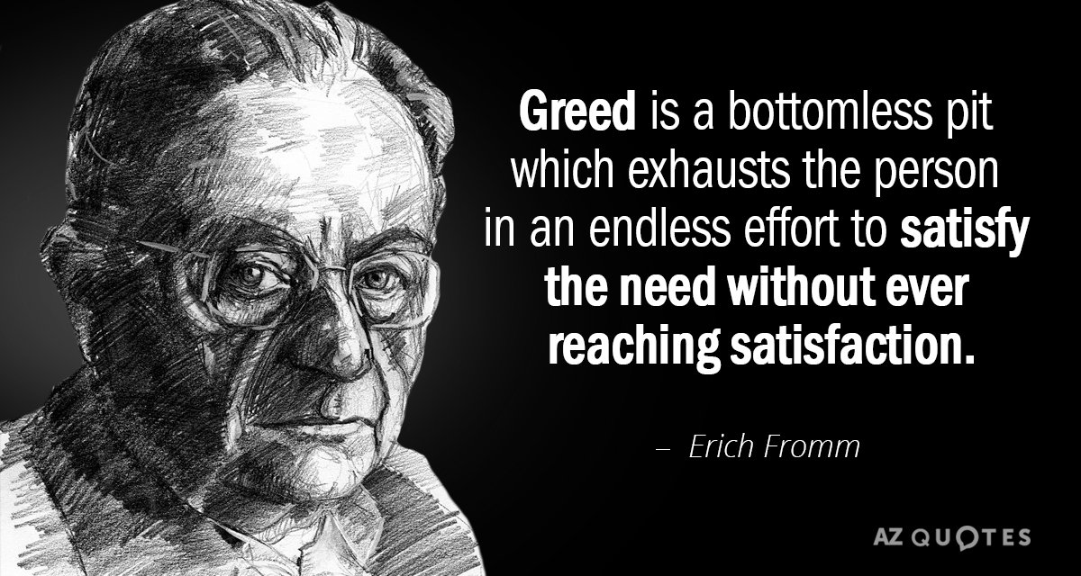 Image result for greed quote