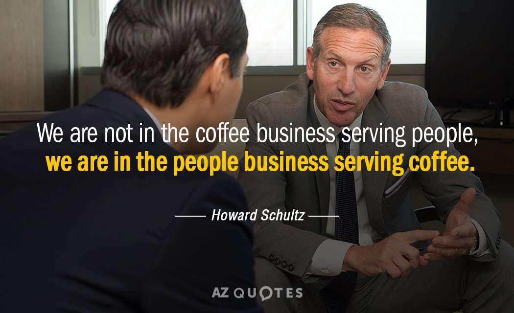 describe howard schultz s basic leadership style human relations In year 1982 today's ceo howard schultz joined starbucks as a director of retail operations and marketing since that time the company started to grow rapidly in just few years of operations more stores have been opened expanding a business around the country and around the world.