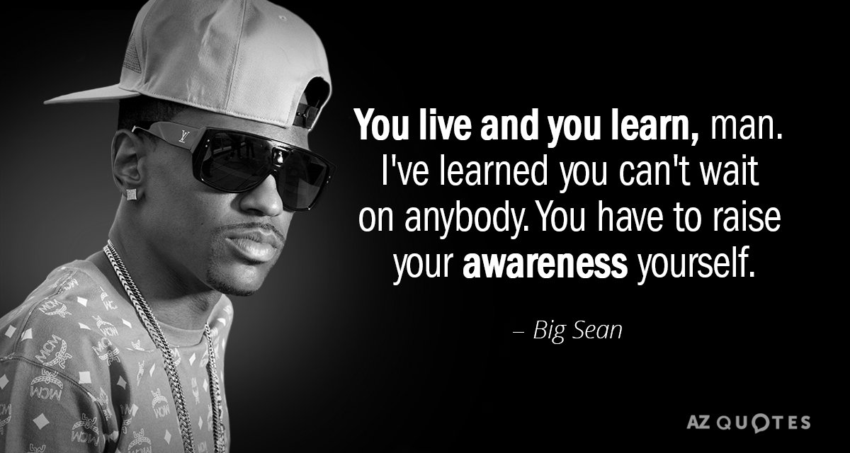 Big Sean Quote You Live And You Learn Man Ive Learned You Cant