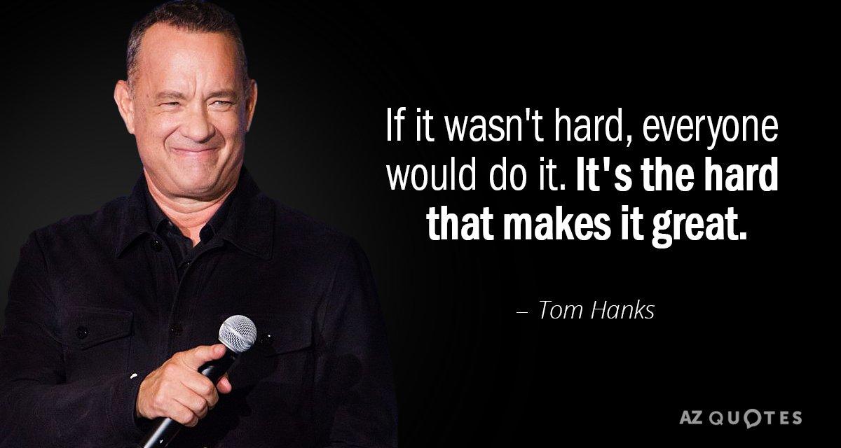 ผลการค้นหารูปภาพสำหรับ tom hank quotes about if it