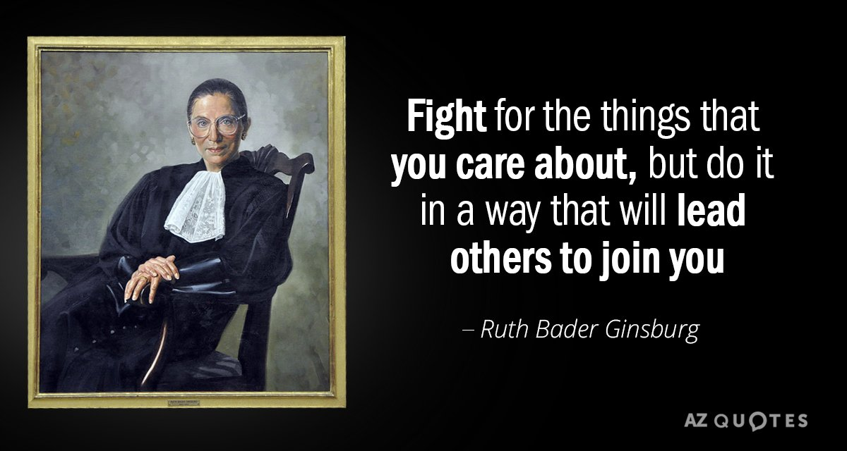 TOP 25 QUOTES BY RUTH BADER GINSBURG (of 100) | A-Z Quotes