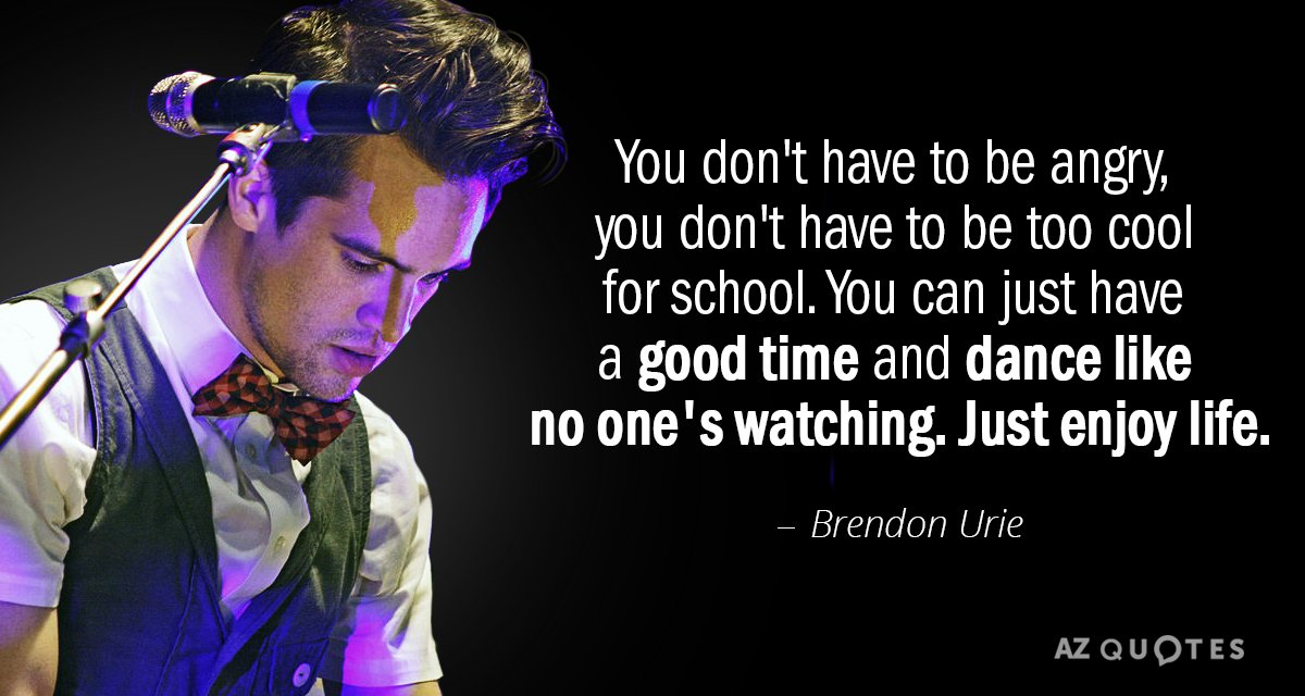 Brendon Urie Quotes TOP 25 QUOTES BY BRENDON URIE | A Z Quotes Brendon Urie Quotes