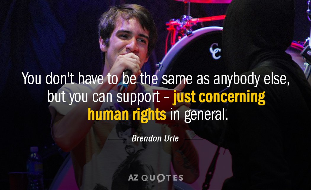 Brendon Urie quote: You don't have to be the same as anybody else, but you can...
