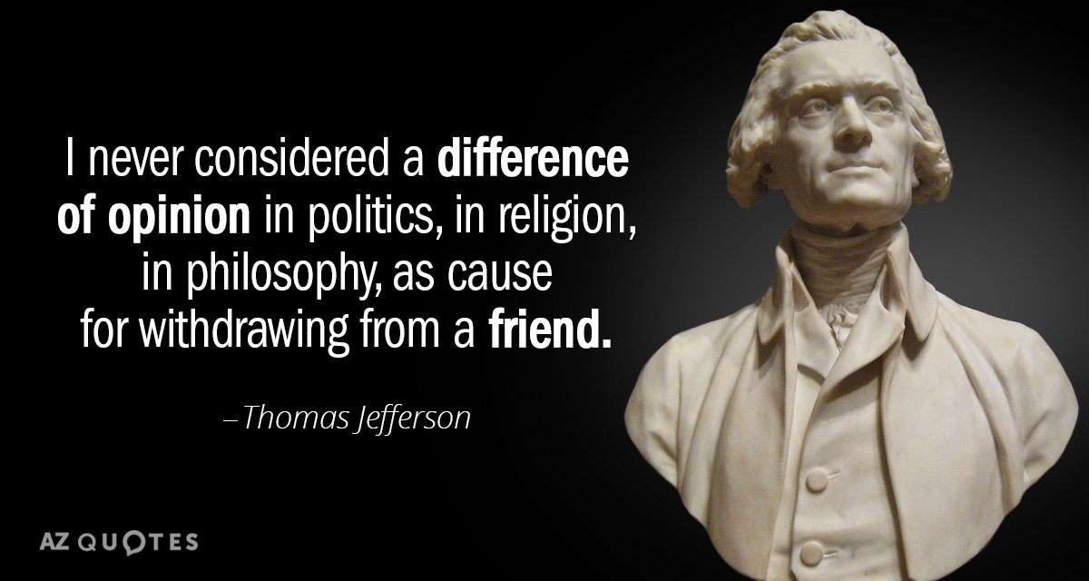 Thomas Jefferson Quote Magnificent Thomas Jefferson Quote I Never Considered A Difference Of Opinion