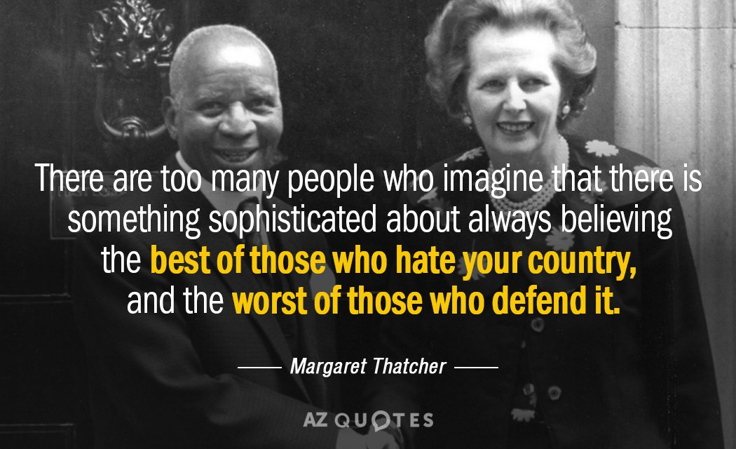 margaret thatcher there is no such Corin wrote: » when considering margaret thatcher, as with any leader, one should examine the types of people she associated with and supported.