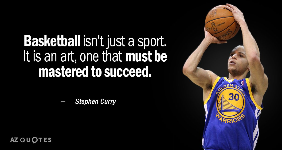 Stephen Curry quote: Basketball isn\'t just a sport. It is an ...