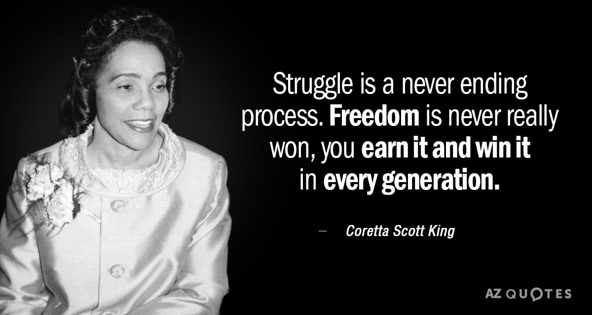 TOP 60 QUOTES BY CORETTA SCOTT KING Of 60 AZ Quotes Inspiration Coretta Scott King Quotes