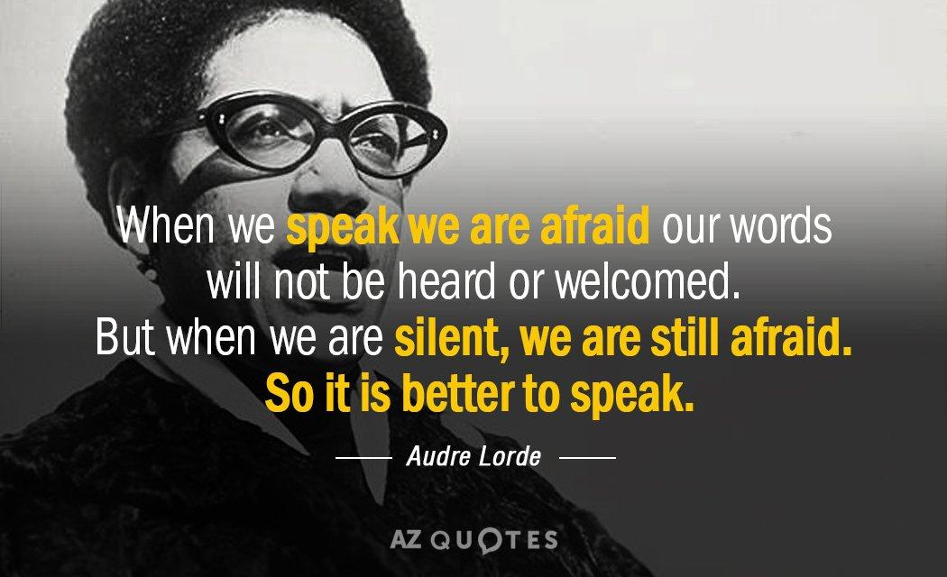 Top 25 Audre Lorde Quotes On Oppression Differences A Z Quotes