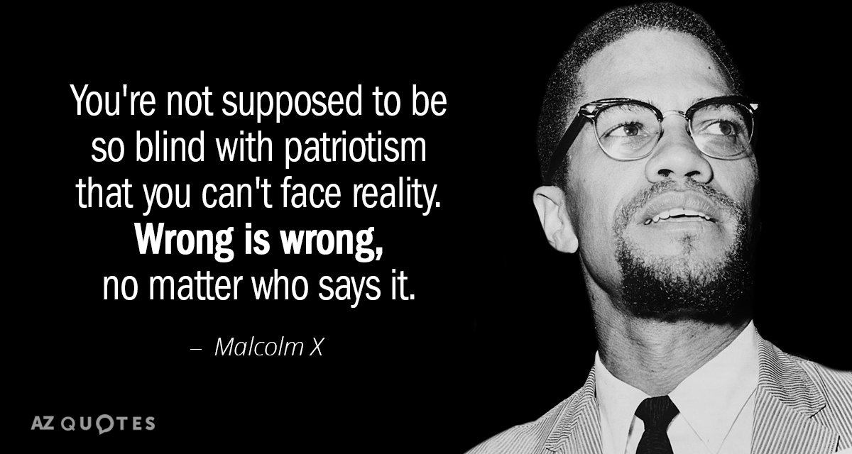 Malcolm X Quotes Malcolm X quote: You're not supposed to be so blind with  Malcolm X Quotes