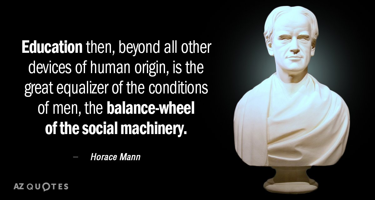 Horace Mann Quotes Interesting Horace Mann Quote Education Then Beyond All Other Devices Of Human