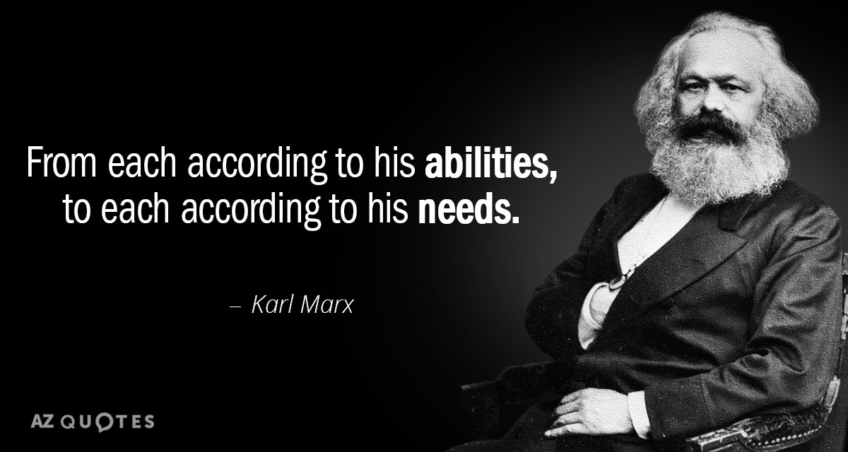 Image result for Marx according to his needs