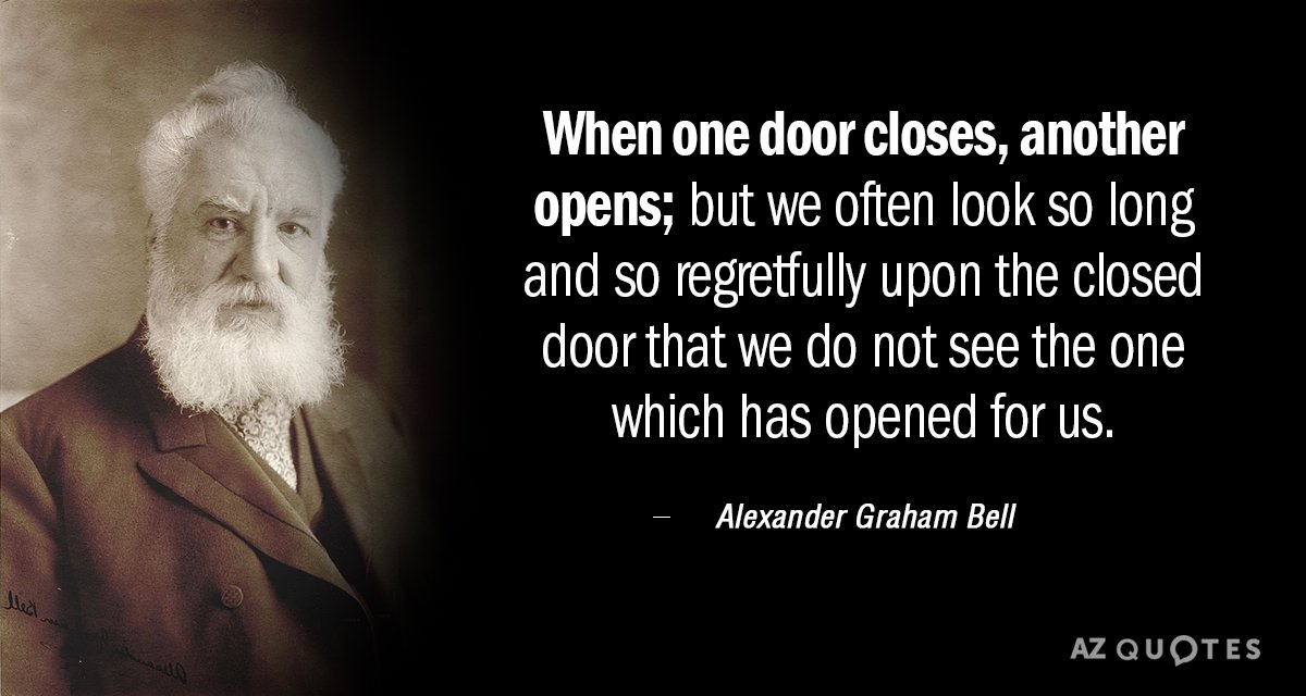 Alexander Graham Bell quote When one door closes another opens; but we often  sc 1 st  AZ Quotes & Alexander Graham Bell quote: When one door closes another opens ...