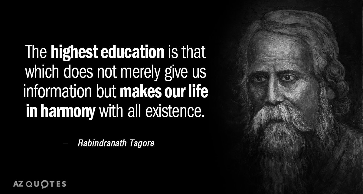 rabindranath tagore contribution to education