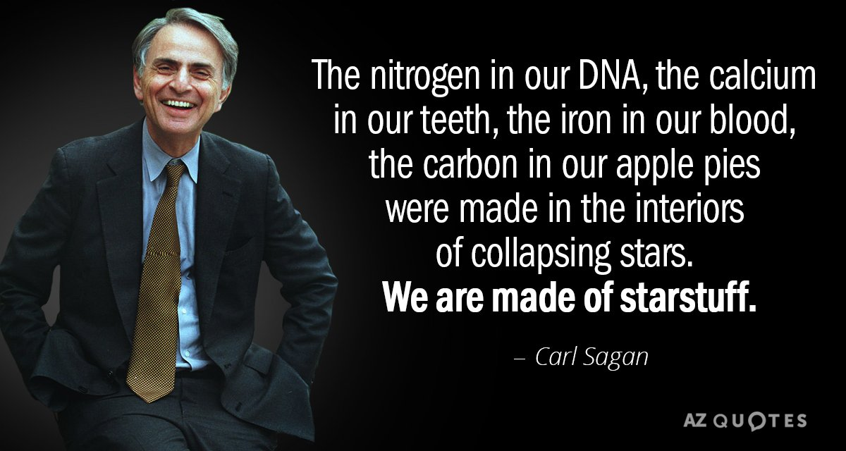 Carl Sagan Quote The Nitrogen In Our Dna The Calcium In