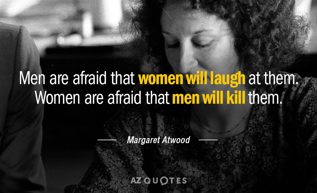 margaret atwood quote men are afraid that women will laugh at them