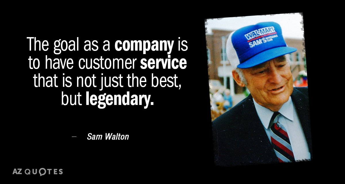 sam walton company background In walmart founder sam walton's posthumously released autobiography made in america: my story, the entrepreneur laid out a series of ten commandments which he believed represented an ideal way of.
