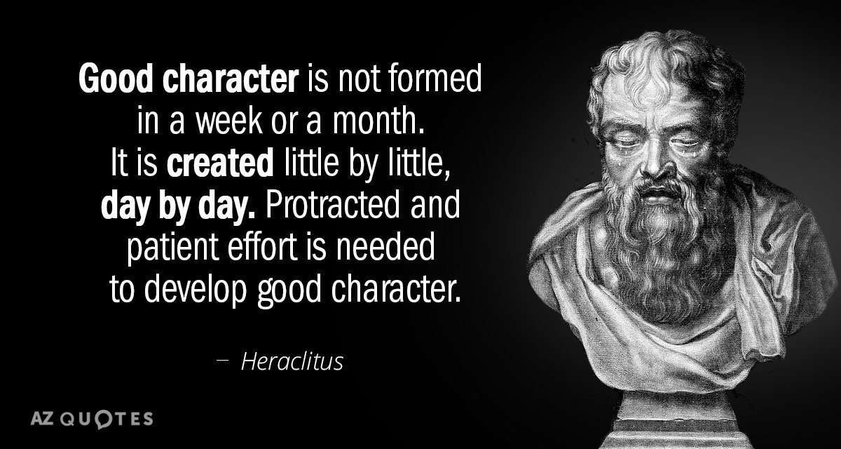 Image result for on character quote by greek philosopher heraclitus