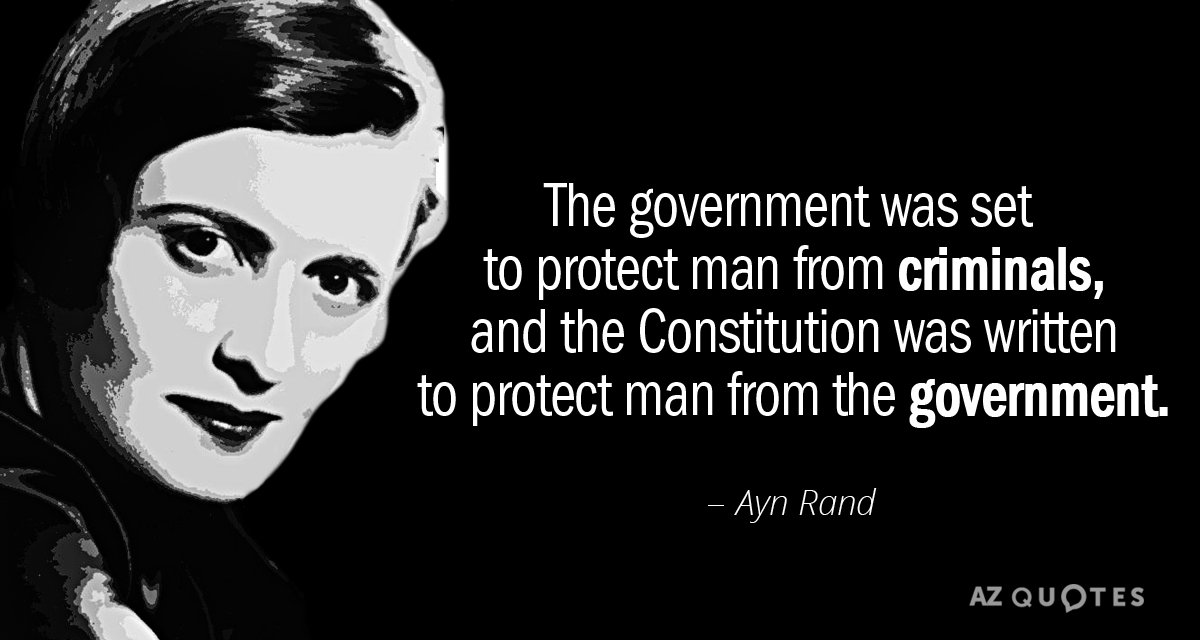 Ayn Rand Quote The Government Was Set To Protect Man From
