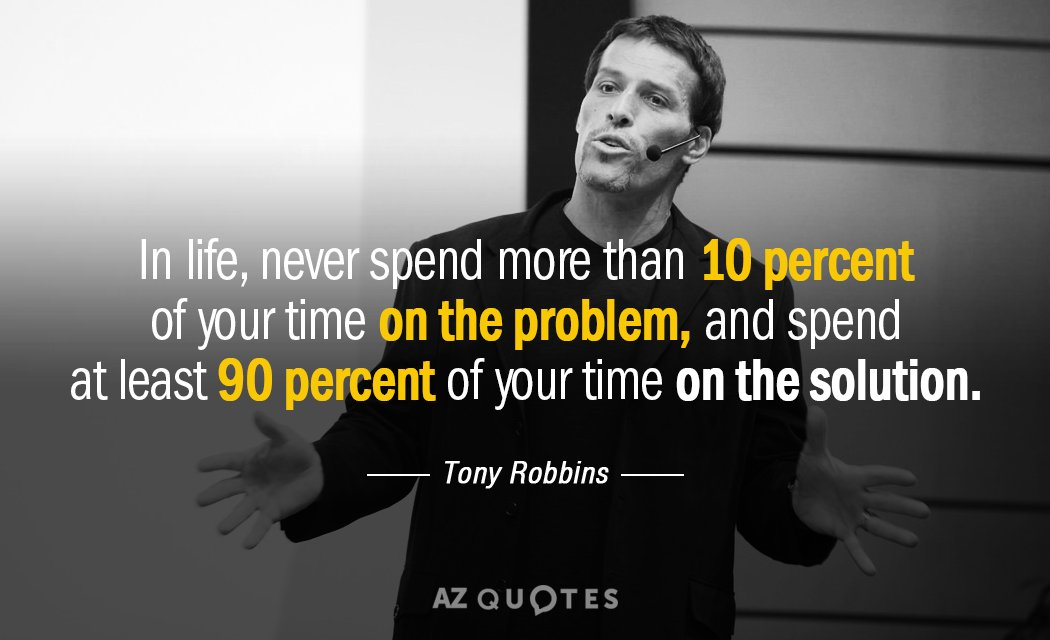Tony Robbins Quotes Tony Robbins quote: In life, never spend more than 10 percent of  Tony Robbins Quotes