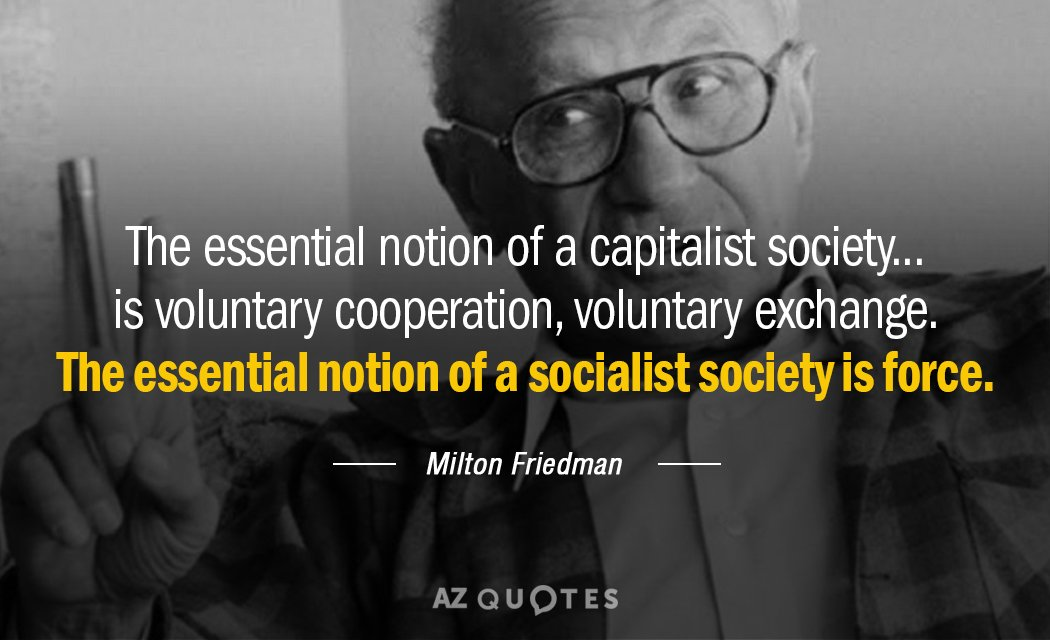 Milton Friedman Quotes Awesome Milton Friedman Quote The Essential Notion Of A Capitalist Society