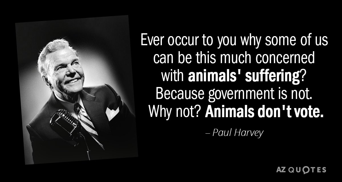 Paul Harvey quote: Ever occur to you why some of us can be this much concerned...