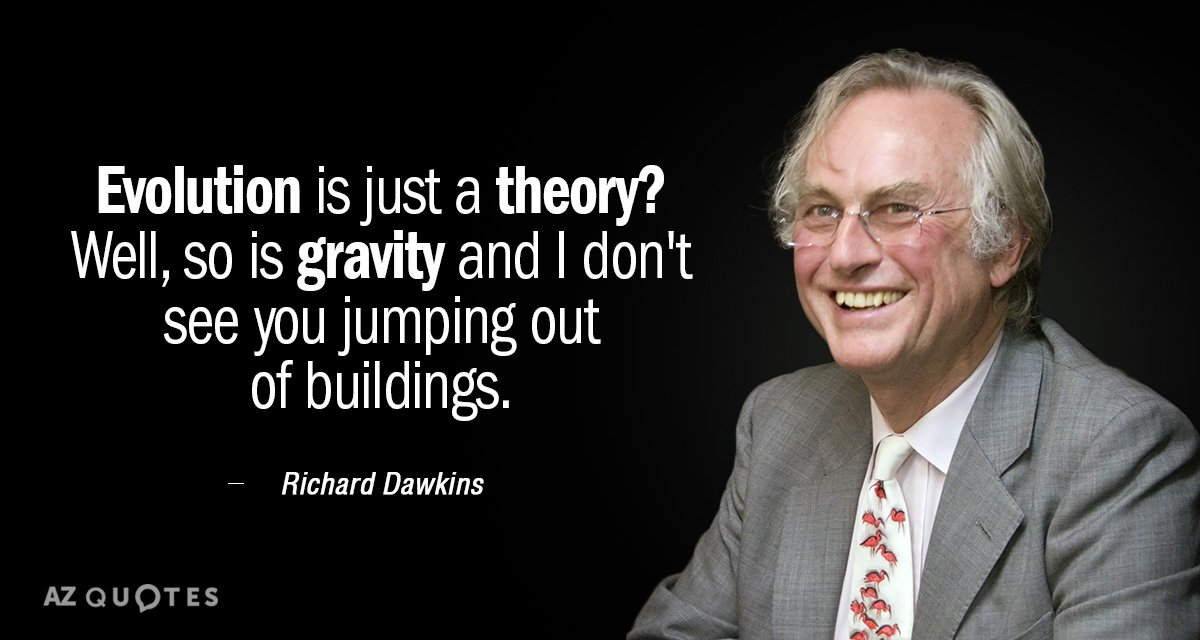 richard dawkins quote evolution is just a theory well so is