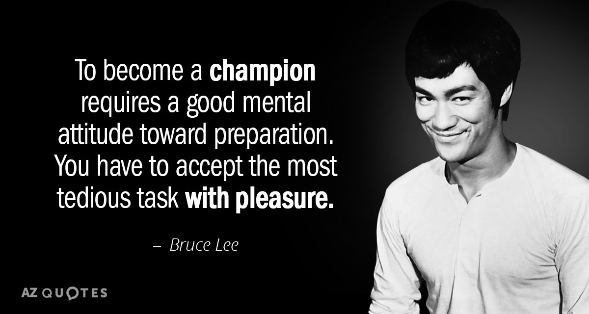 Bruce Lee Quotes Bruce Lee quote: To become a champion requires a good mental  Bruce Lee Quotes
