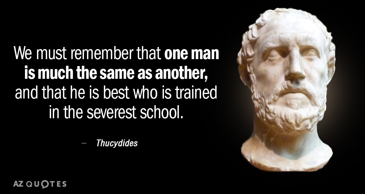 Image result for thucydides school quote