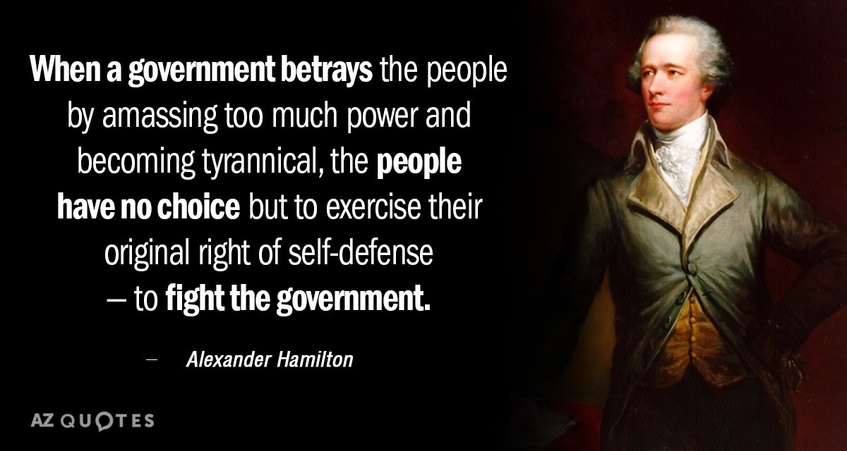 Alexander Hamilton Quotes Alexander Hamilton quote: When a government betrays the people by  Alexander Hamilton Quotes