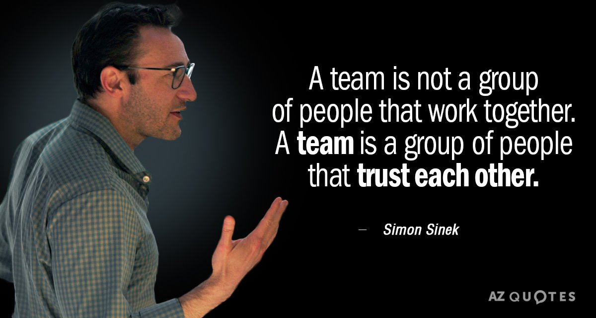simon sinek quote  a team is not a group of people that